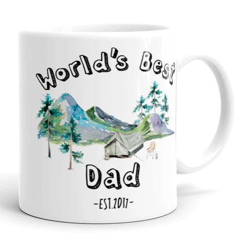 Custom World's Best Dad Coffee Mug, Tea Mug for Fathers Day