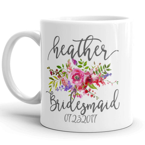 Personalized Coffee Mug for Bridesmaid, Maid of Honor