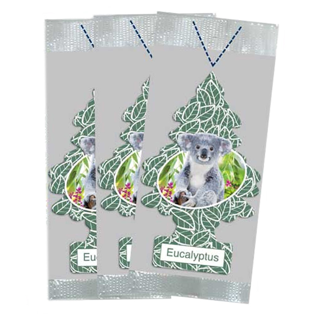 little trees car air freshener 3 pack eucalyptus by goso direct