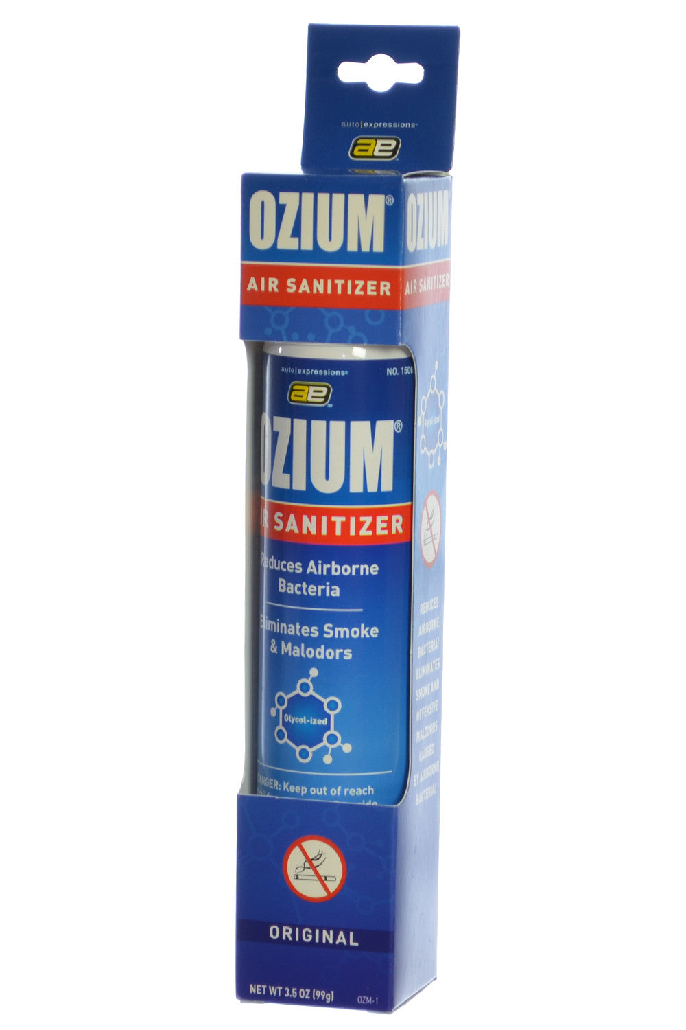 ozium cigarette smoke air sanitizer eliminates smoke smell aerosol spray original pack. Black Bedroom Furniture Sets. Home Design Ideas