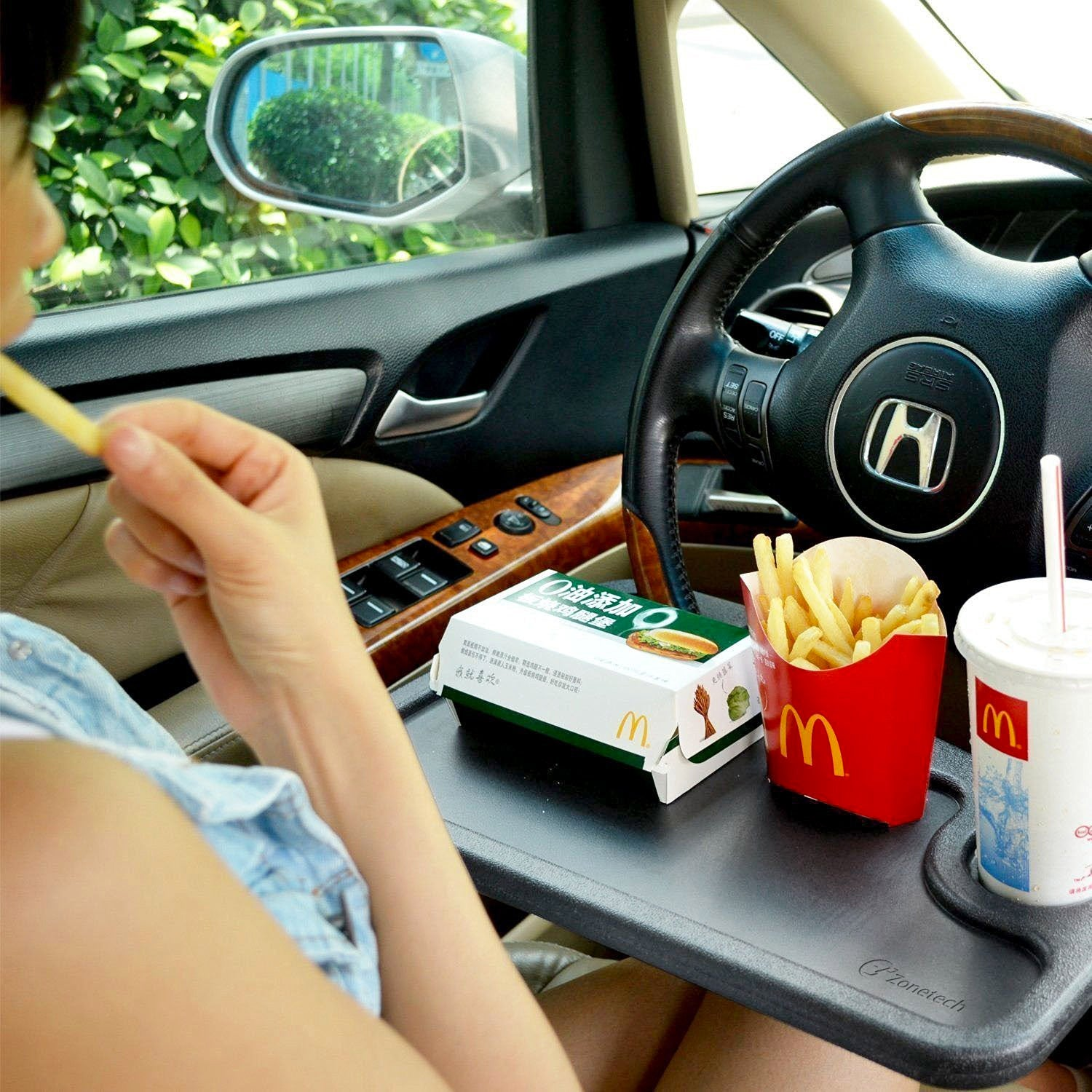 GOSO Steering Wheel Table Tray Desk For Eating Drinking Working Writing Laptop And Tablet In Car