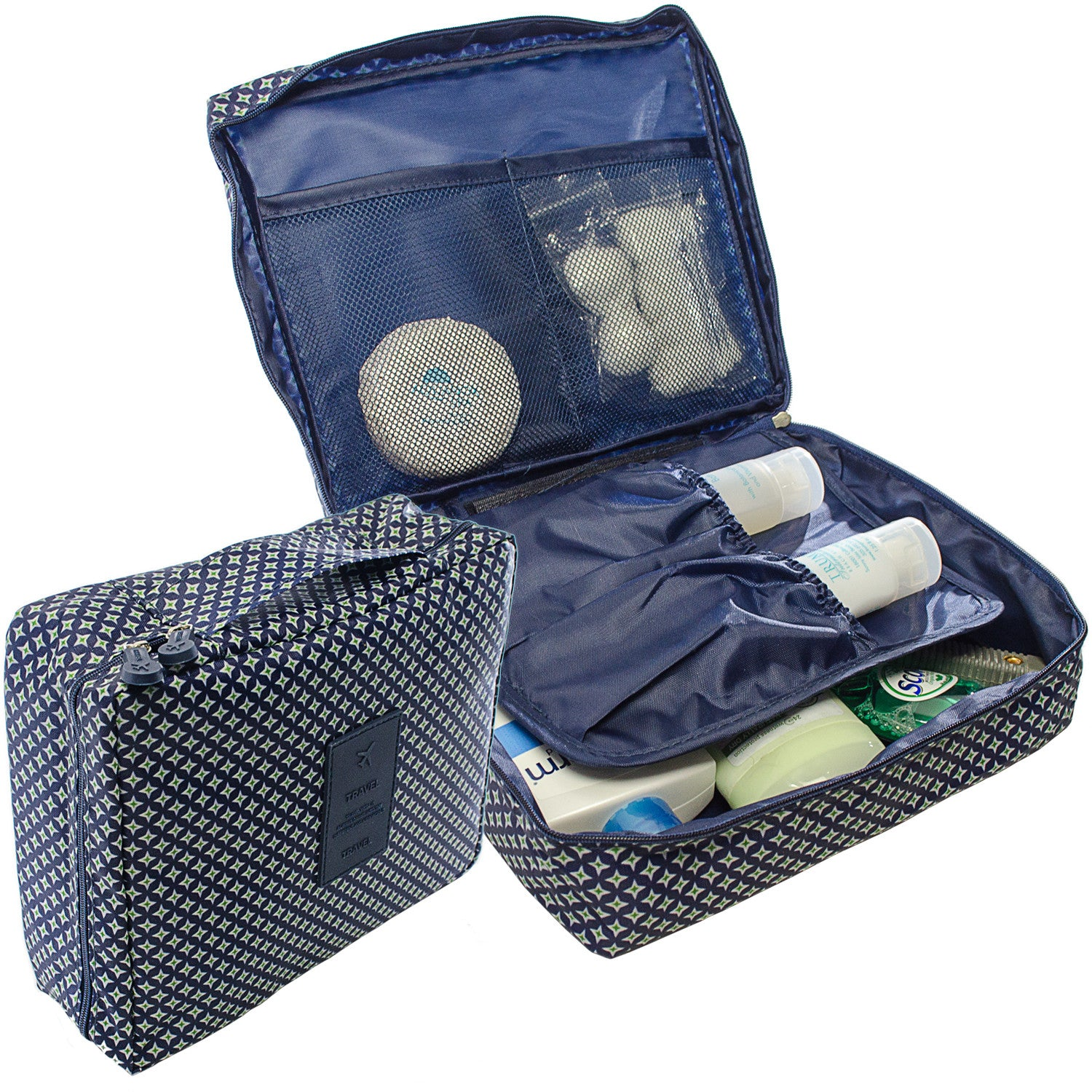 9b4b3bfc3c84 GOSO Travel Toiletry Bag Waterproof Polyester Fabric Travel Cosmetic Bag by  GOSO Direct