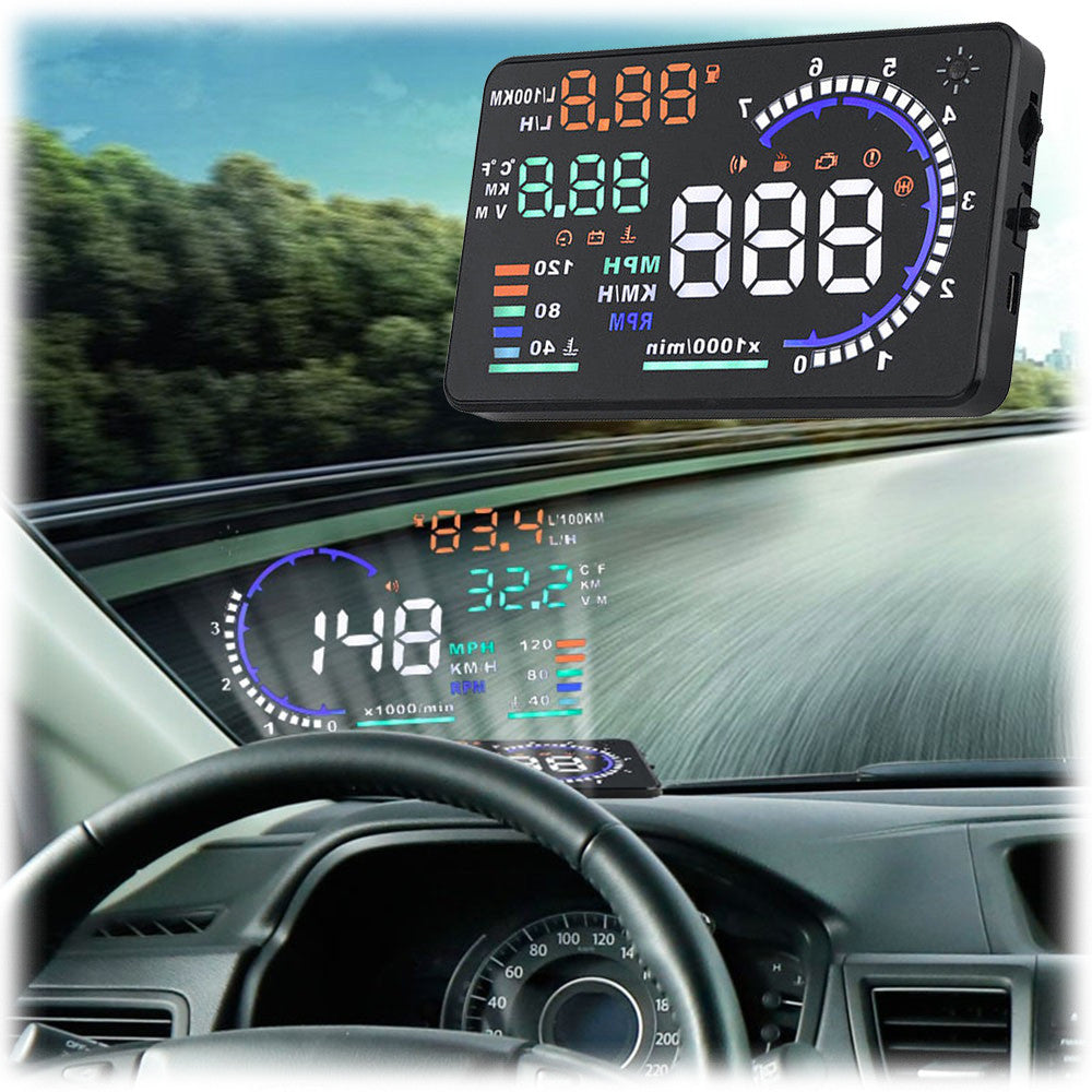 goso car head up display hud color projector reflects speed more to your car 39 s windshield. Black Bedroom Furniture Sets. Home Design Ideas