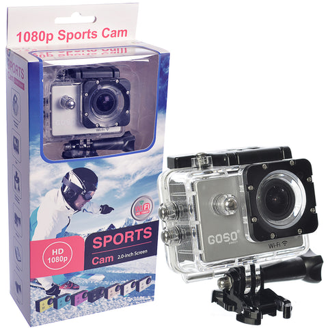 GOSO Waterproof Sports Action Camera with Accessories Wide Angle View HD 1080P Action Cam