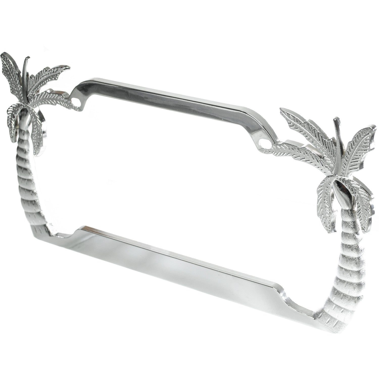 majic license plate frame chrome metal palm tree