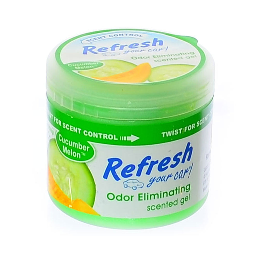 Gel Air Freshener >> Refresh Scented Gel Air Freshener Car Home Office Odor Eliminator 4 5oz Cucumber Melon Scent
