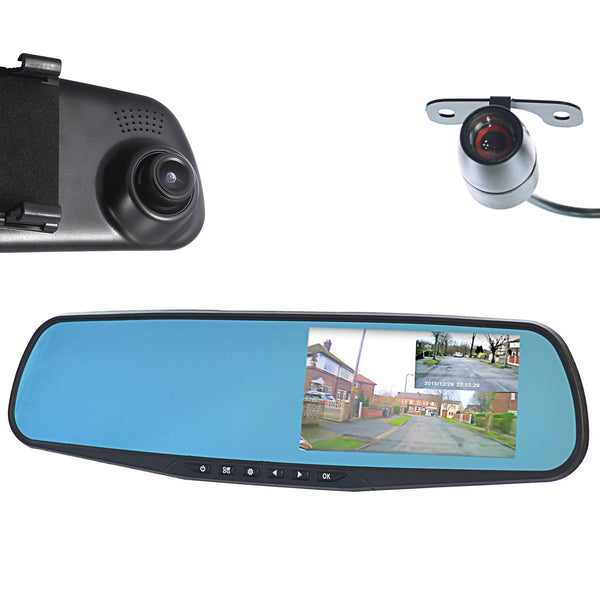 Goso Front Amp Rear Dash Camera Dual Lens Rearview Mirror By