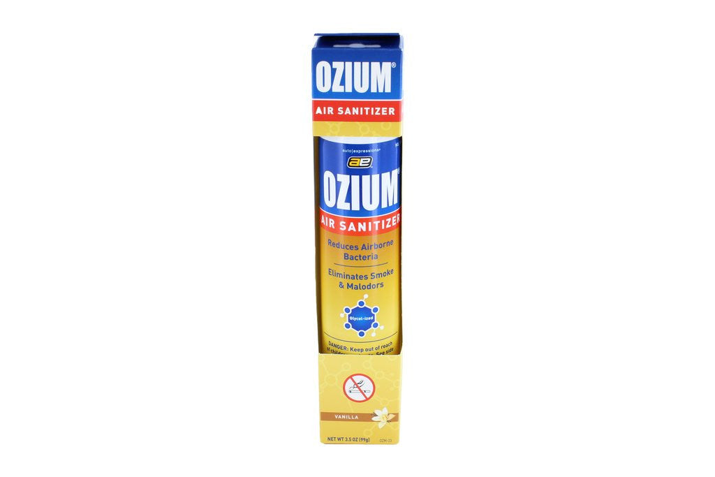 ozium cigarette smoke air sanitizer eliminates smoke smell aerosol spray vanilla pack. Black Bedroom Furniture Sets. Home Design Ideas
