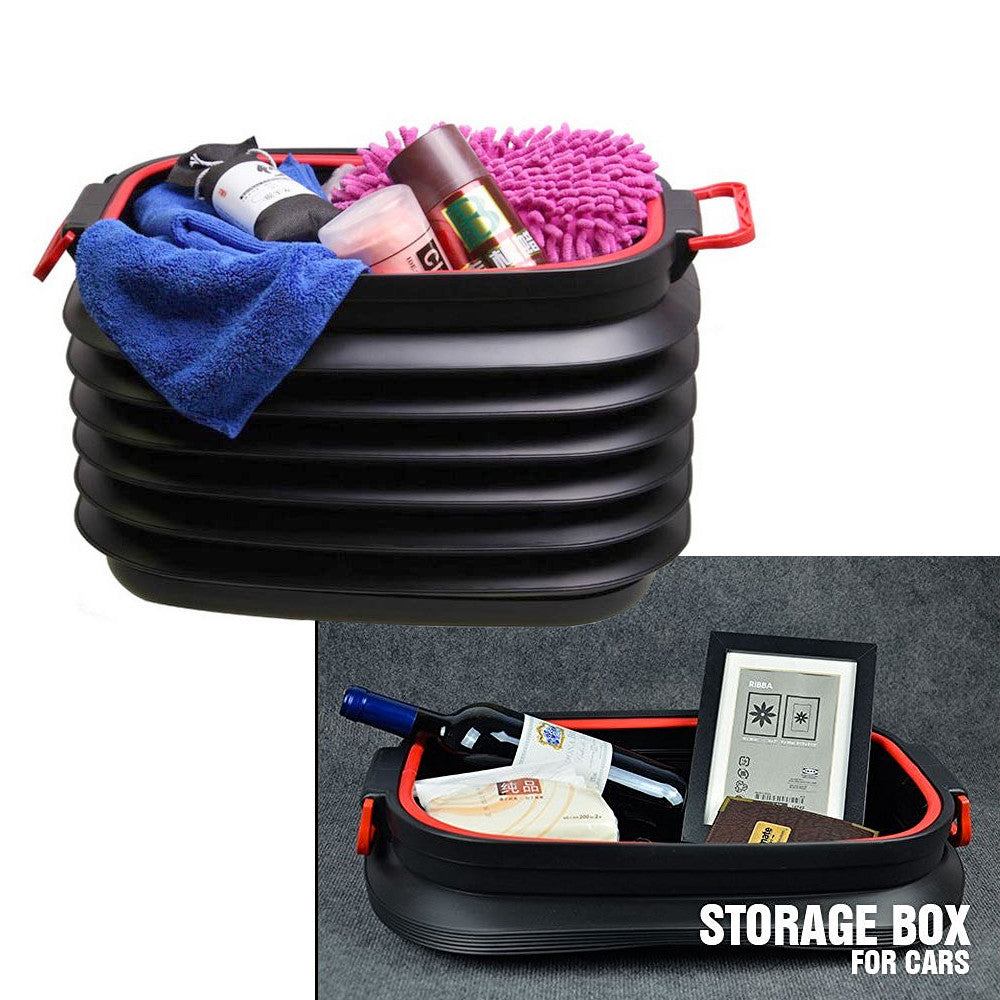GOSO Trunk Organizer Collapsible Storage Container 37L Bin Capacity