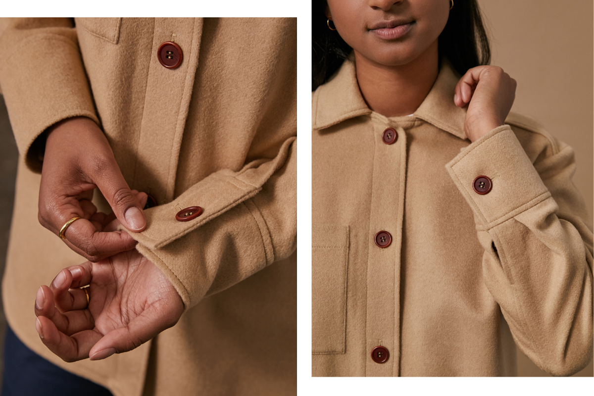 Camel Shirt ethically made in canada