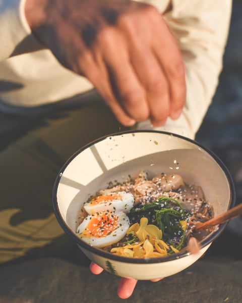 Beach Ramen recipe for foraged food film on Vancouver Island Canada