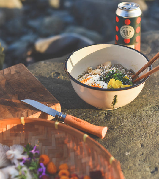 Foraged food beach ramen recipe on coast of Vancouver Island