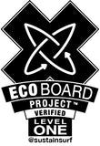 Gold Level Eco board qualification / sustainable surf project / sitka surfboards