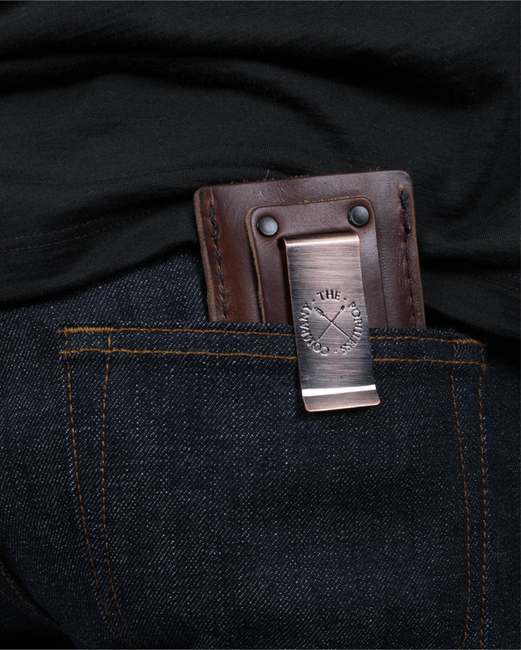ecologyst x Populess Larson Wallet in Rustic Brown Detail