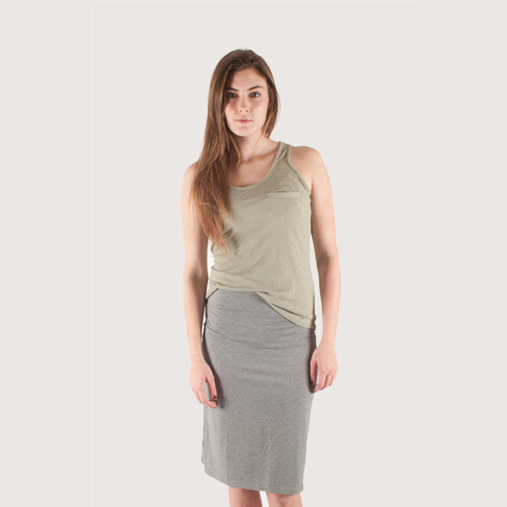 Sitka  Canal Jersey Skirt Heather Grey / L / Womens - 10 SKIRTS/DRESSES - 1