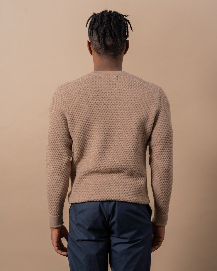 The Merino Sweater in Nutmeg - Back