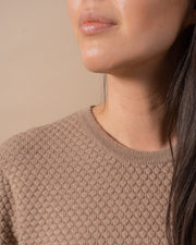 The Merino Sweater in Nutmeg - Detail #colour_nutmeg
