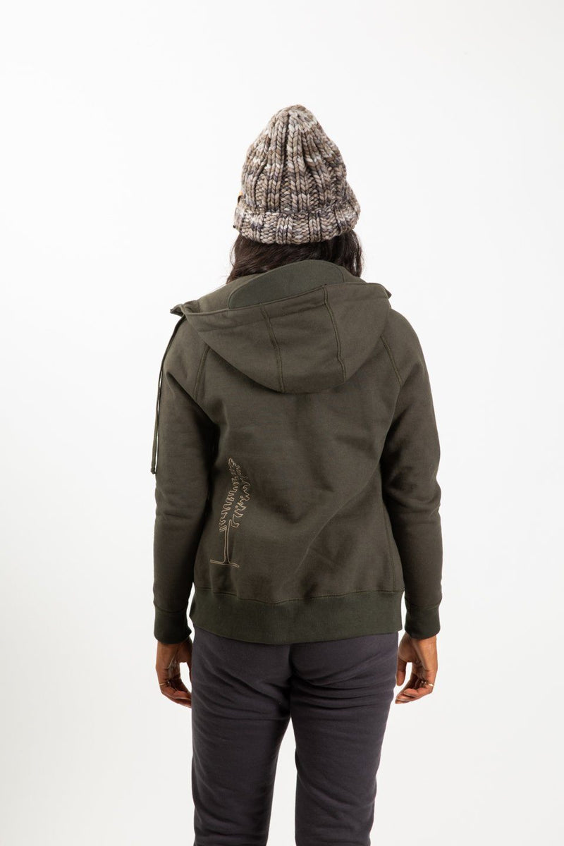 Sikta Peak Hoodie Sitka Green back view