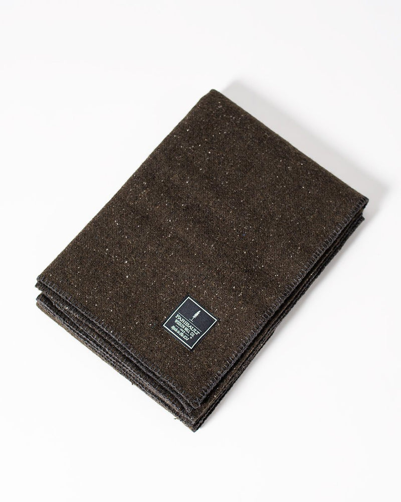 ecologyst Faribault The Wool Utility Blanket Recycled Wool Poly-Nylon Throw - Olive