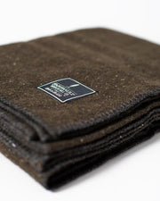 The Wool Utility Blanket in Olive Fabric Detail #colour_olive