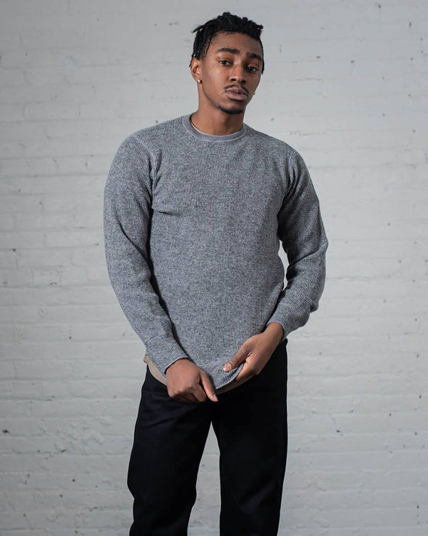Stanfield's Crew Heather Grey Front