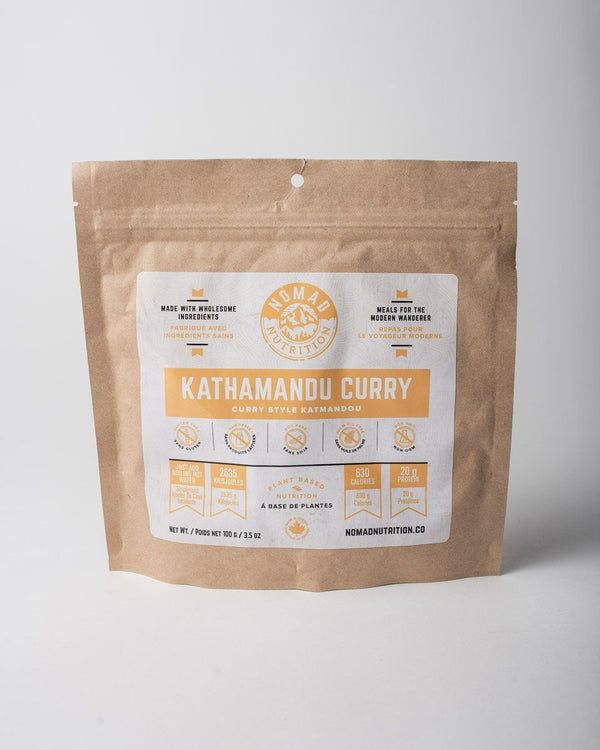 Nomad Nutrition Meals REVdry™ Dehydrated Dry Food Camp Meal Gear 100g Organic Non-GMO Kathamandu Curry