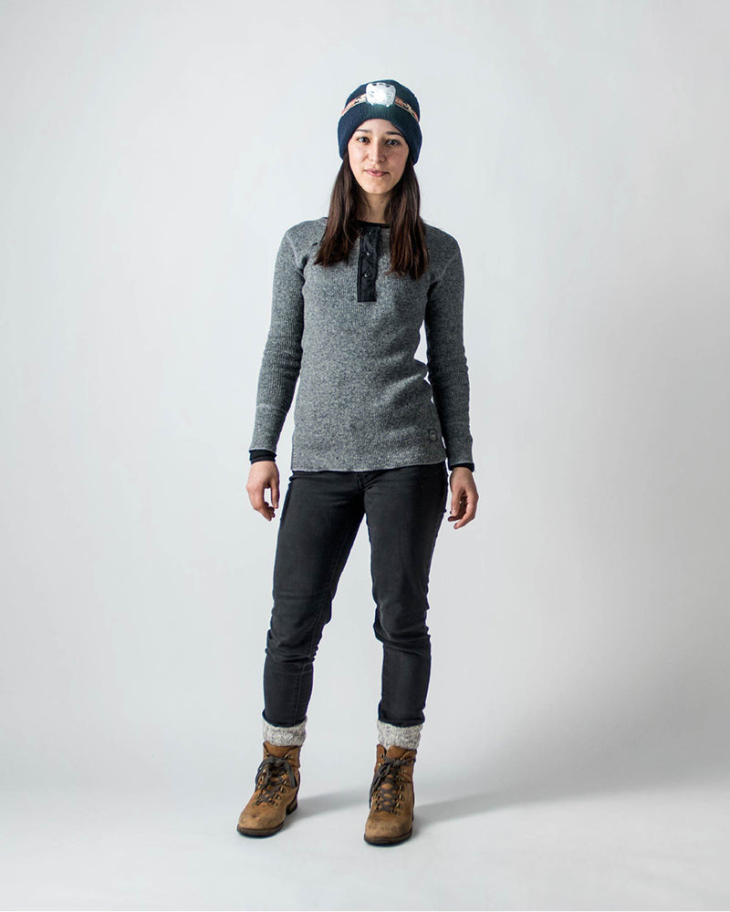 Sitka Women's Wool Sitka X Stanfield's Henley - Heather Grey - Sitka X Stanfield's Henley - Hero