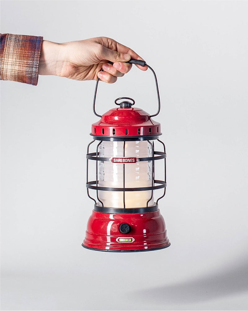 ecologyst - Sitka x Barebones Living Forest Lantern / Red Lantern / Rechargeable LED Cabin Lantern with charging ports  hero
