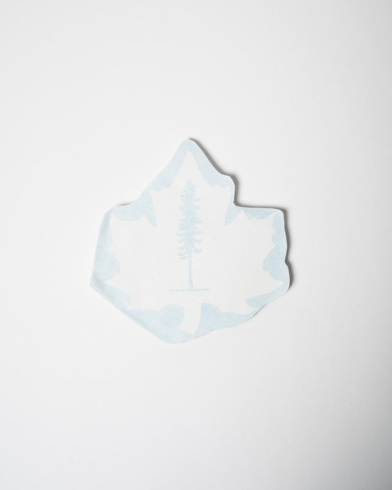Sitka ecologyst -Maple Sticker - White - All