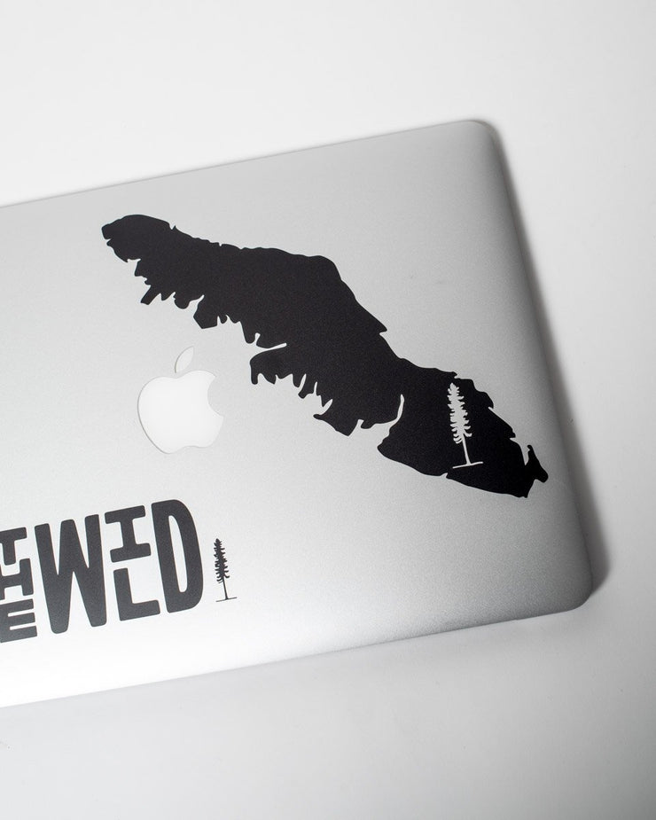The Vancouver Island Sticker - Black