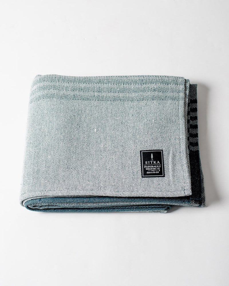 ecologyst - Sitka Faribault The Recycled Cotton Blanket Eco-Cotton Polyester Beach Throw - Teal