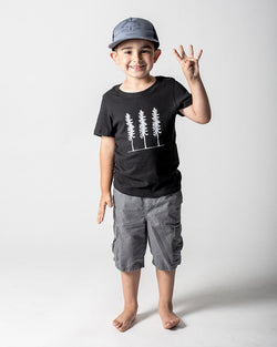 Sitka - ecologyst Kids Organic Cotton Jersey Triple Threat T-Shirt The Triple Threat Tee - Black