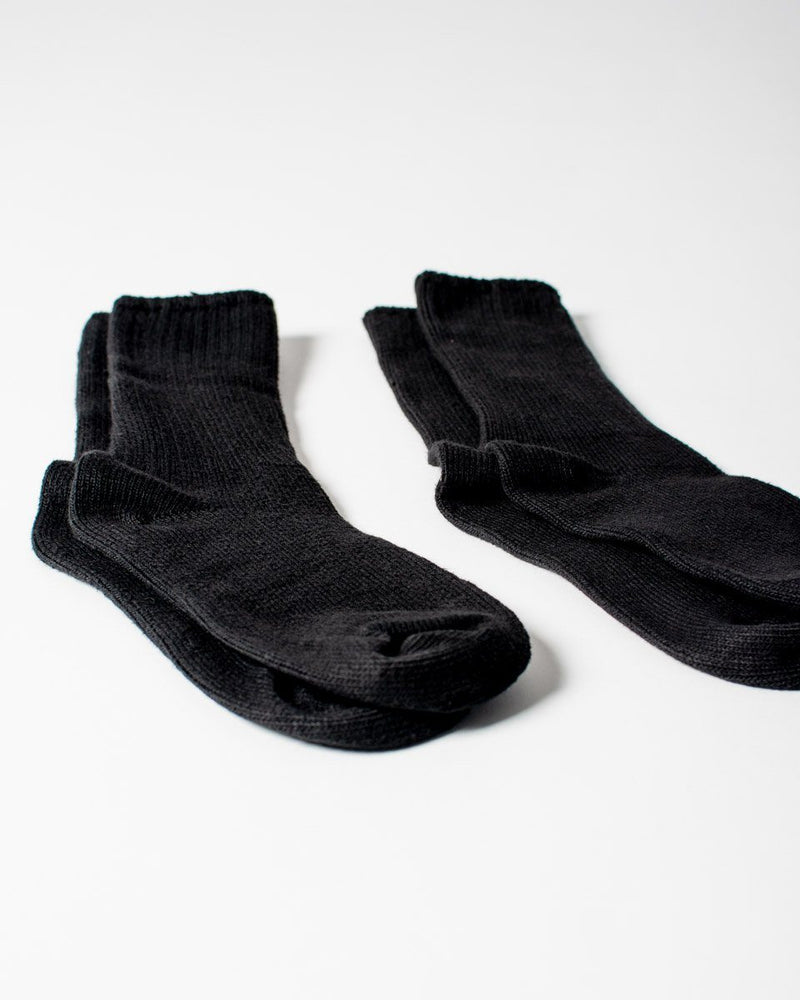 Sitka Maggies The Classic Crew Sock Organic Cotton Spandex Everyday Sock - Black