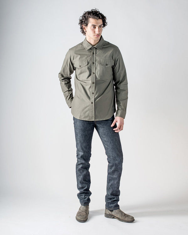 Sitka Men's Cotton Ripstop Japan Canada Vintage Army Green Front