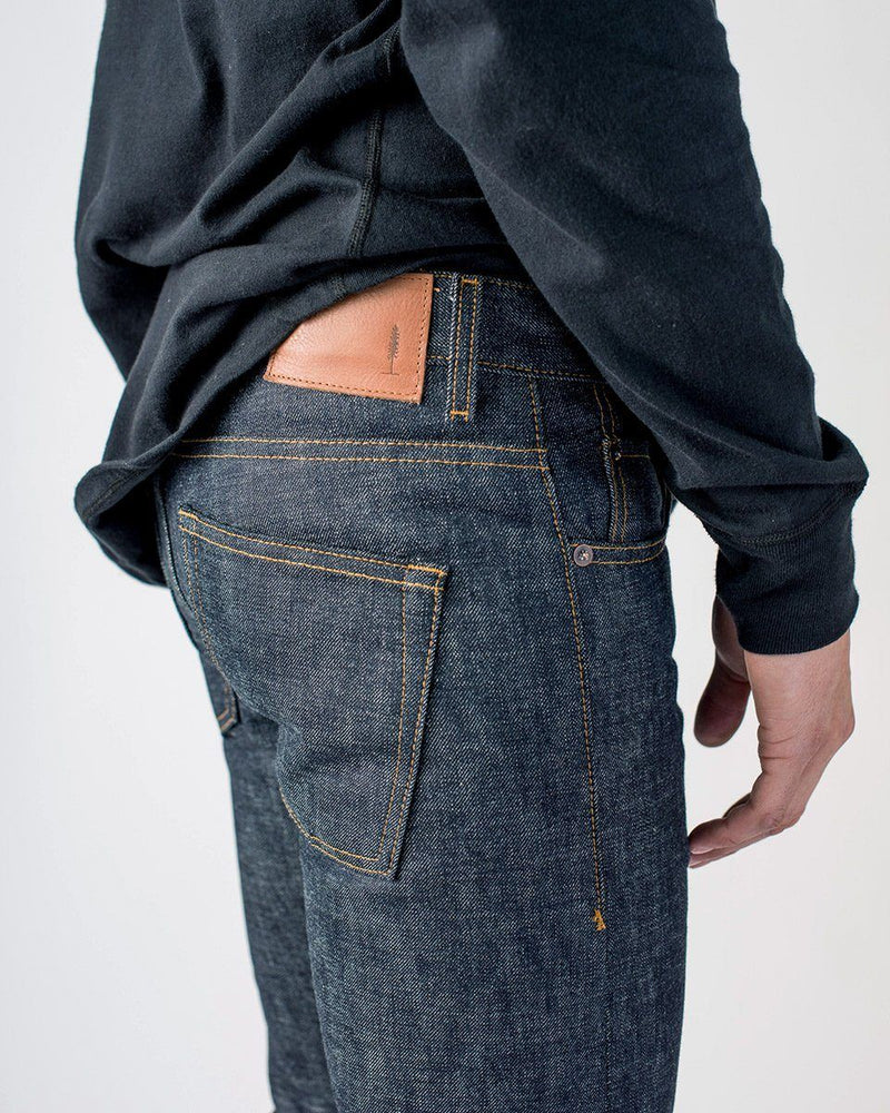 Sitka - ecologyst Men's Organic Cotton Japanese Raw Denim Selvedge The Slim Fit Denim - Indigo