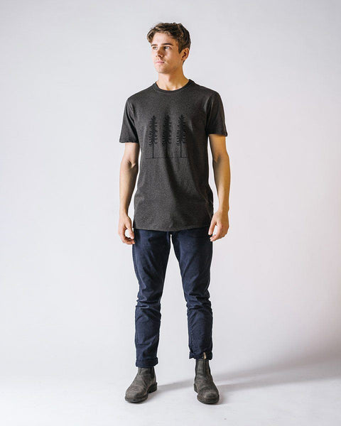 Sitka Unisex Organic Cotton Jersey Triple Threat T-Shirt Dark Heather Grey The Triple Threat Tee