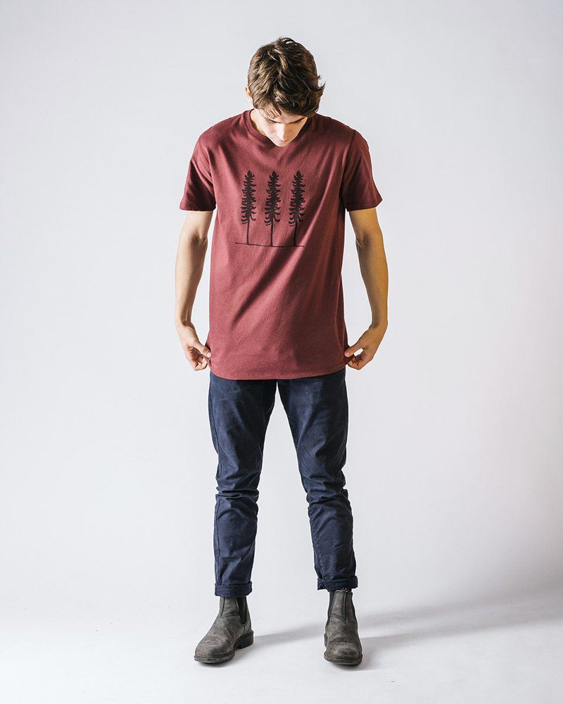 Sitka Unisex Organic Cotton Jersey Triple Threat T-Shirt Maple Red The Triple Threat Tee - Mens