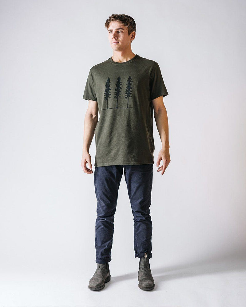 Sitka Unisex Organic Cotton Jersey Triple Threat T-Shirt Sitka Green The Triple Threat Tee - Mens