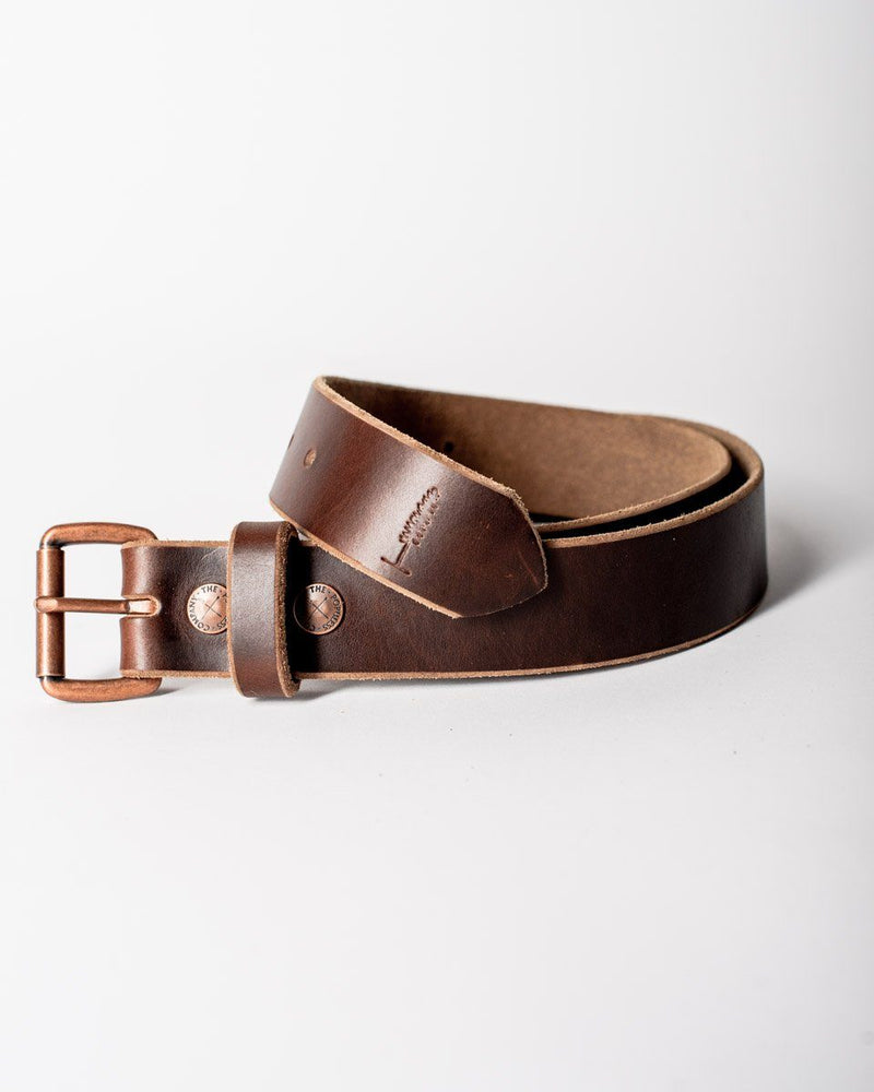 Sitka Populess Company The Sitka Belt 9/10oz Horween Leather By-Product Metal Hardware - Rustic