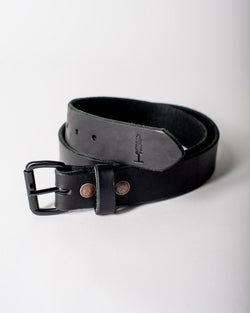 Sitka Populess Company The Sitka Belt 9/10oz Horween Leather By-Product Metal Hardware - Black