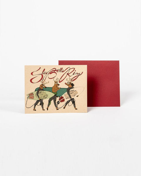 Sitka Santa Slays Wild Life Illustrations Co Christmas Greeting Card Print Recycled Paper Designed in Tofino - All