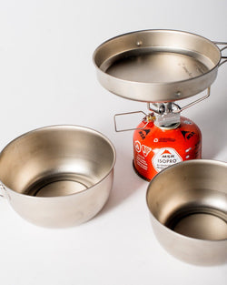 ecologyst Snow Peak 3-Piece Cook Set Titanium Mess Kit - All