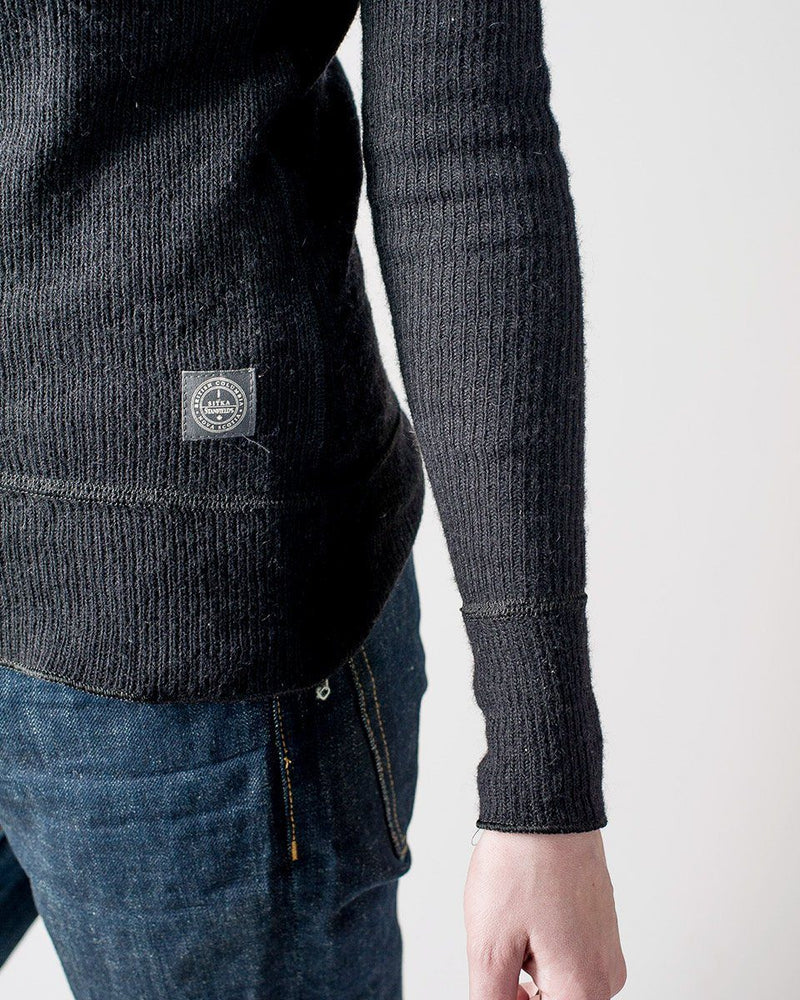 Women's Sitka x Stanfield's Wool Crewneck Crew - Black - Detail
