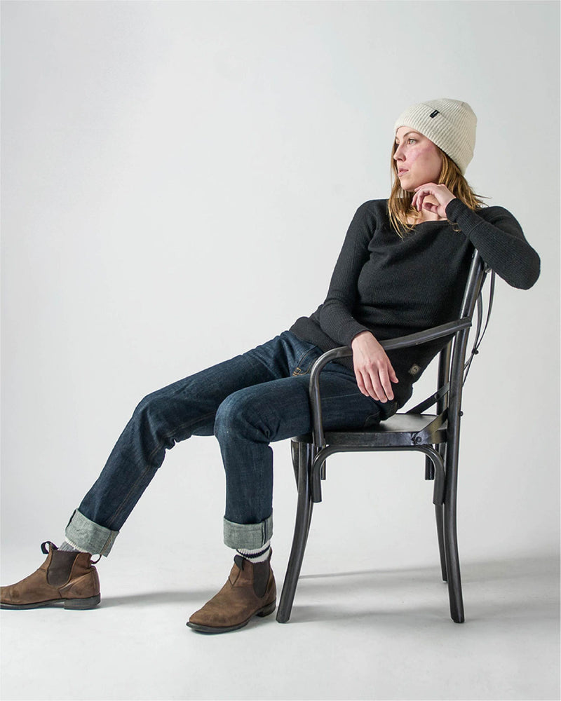Women's Sitka x Stanfield's Wool Crewneck Crew - Hero Black