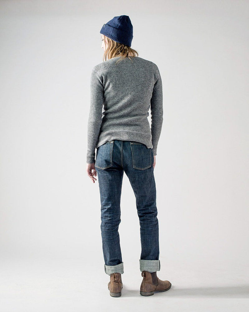 Women's Sitka x Stanfield's Wool Crewneck Crew - Heather Grey - Back