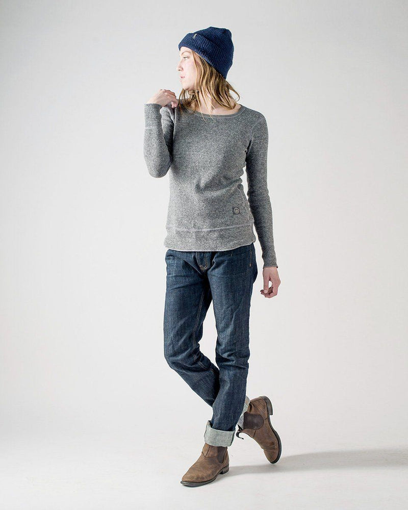 Women's Sitka x Stanfield's Wool Crewneck Crew - Heather Grey - Front