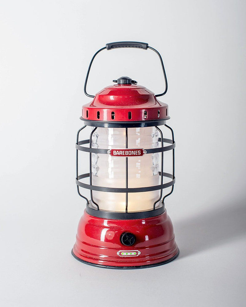 Sitka x Barebones Living Forest Lantern / Red Lantern / Rechargeable LED Cabin Lantern with charging ports