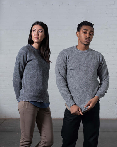 Stanfields Crew in Heather Grey - Gender-Neutral #colour_heather-grey
