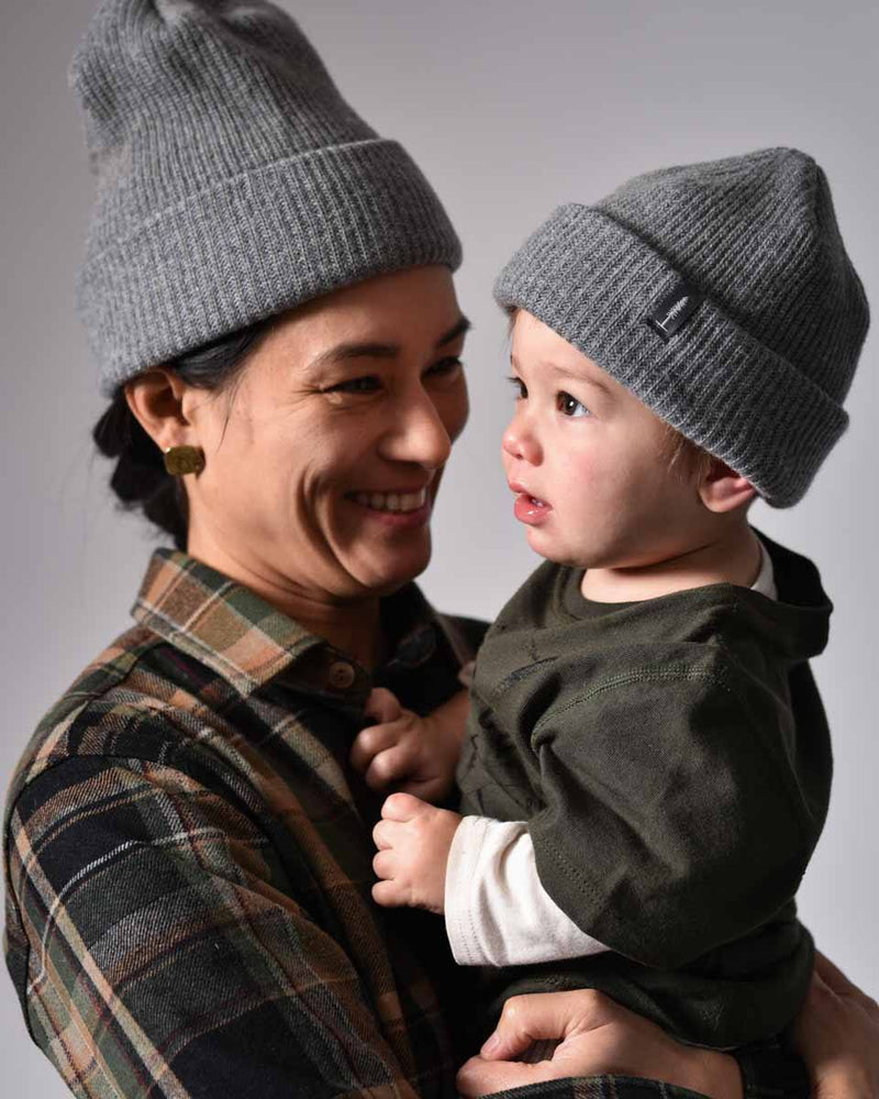 ecologyst - Merino Cashmere - Kids Toque - Beanie - Grey - Made in Canada