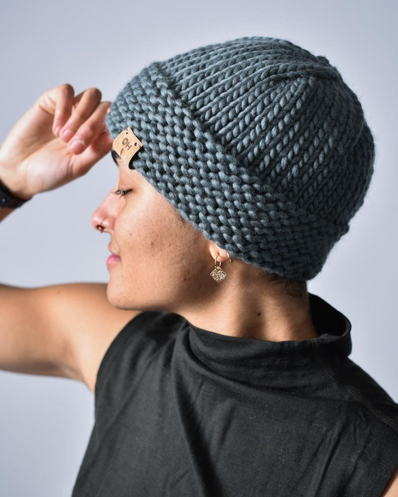 ecologyst x Bligh Beanie - Merino Wool - Sugar Bush Yarns - Natural fibres - Hand Knit - Sage